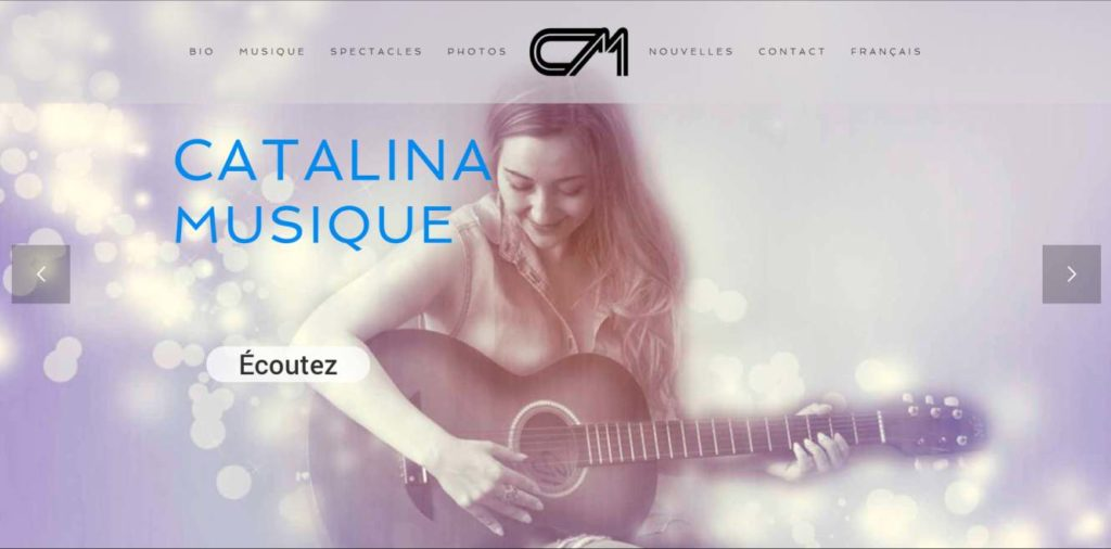 Catalina Musique - website by KLASS PROD
