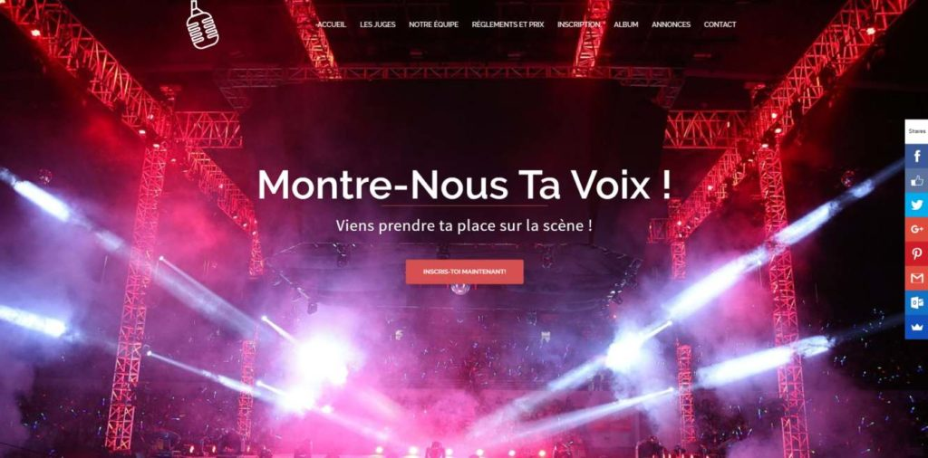 Montre Nous Ta Voix - website by KLASS PROD